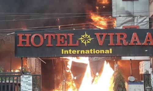 अभी अभी: लखनऊ के चारबाग स्थित होटल में लगी भीषण आग, 5 लोगों की मौत, कई घायल
