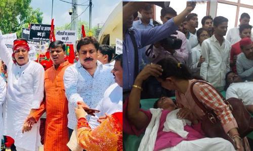 उत्तर प्रदेश: योगी राज में पुलिस की बर्बरता, सपा की महिला कार्यकर्ताओं को बेरहमी से पीटा, कई घायल